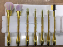 Newcome professional makeup brush ,synthetic hair rose gold makeup brush set