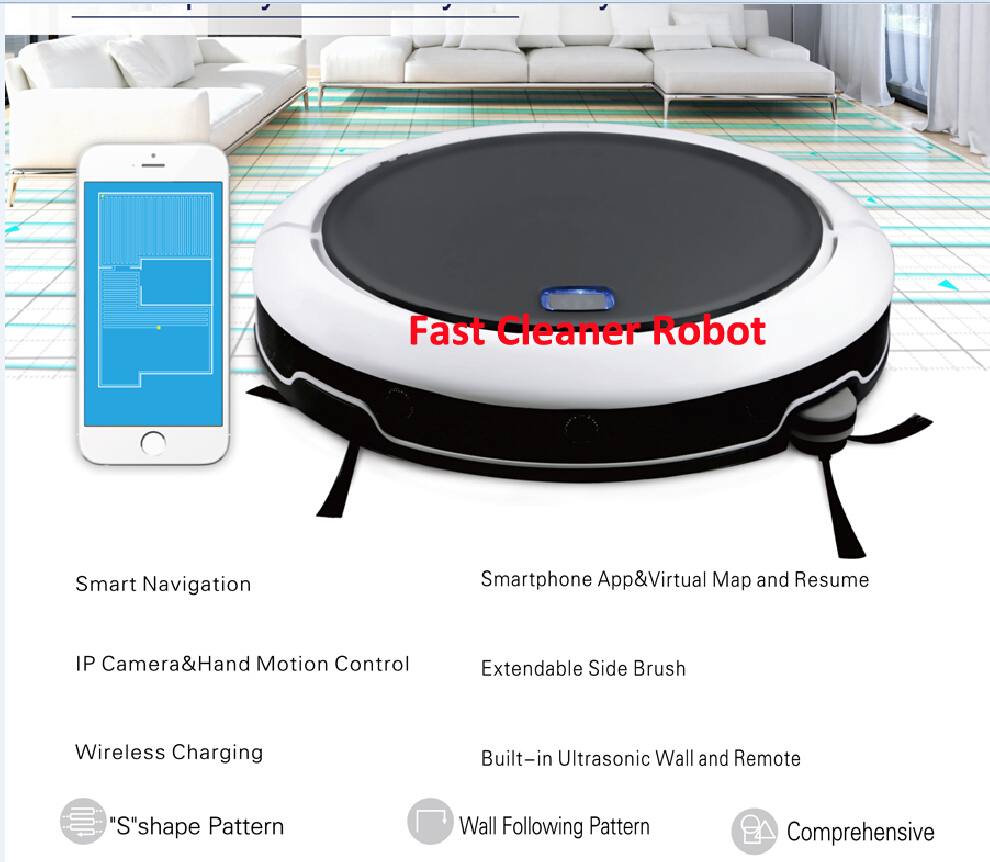 2017 NEWEST Navigation GPS Smartphone Mapping Technology Intelligent Robot Vacuum Cleaner QQ9