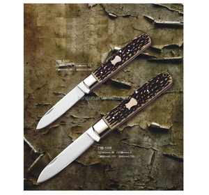 Imitation bone handle small folding knife survival