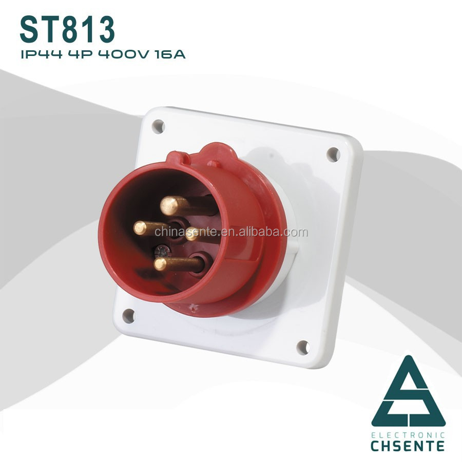 Yueqing eu Standard 4 Poles 400V Industrial Panel Mounted Plug