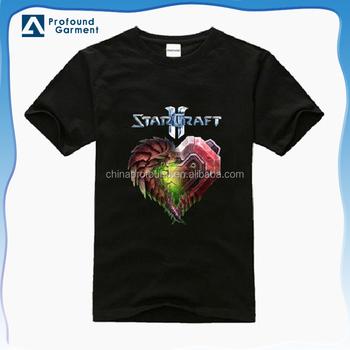 d0738ea1b OEM high quality polyester short sleeve custom heat transfer printed logo  men's t shirt