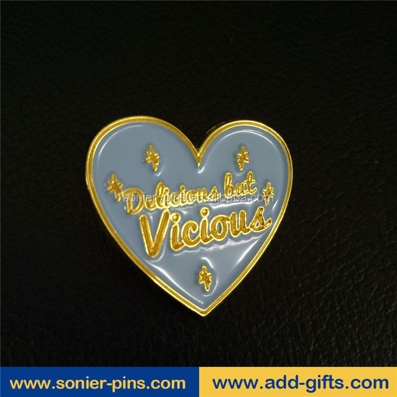 sonier-pins wholesale custom heart shape soft enamel lapel pins in China and free design and Fast delivery
