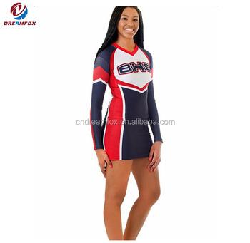 6d467b0d0fd Custom long sleeve Cheerleading Uniforms cheap wholesale cheer dance  wear
