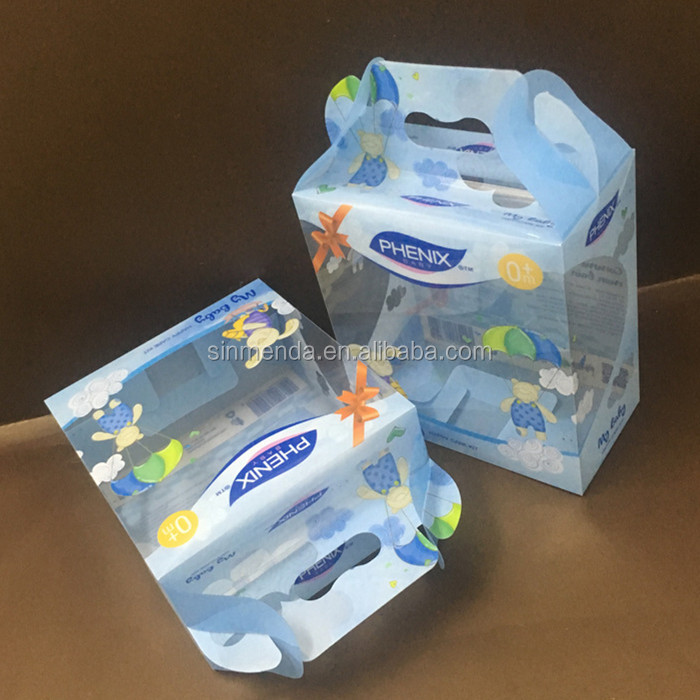 cheap fancy sweet printing foldable plastic box for cereal packaging