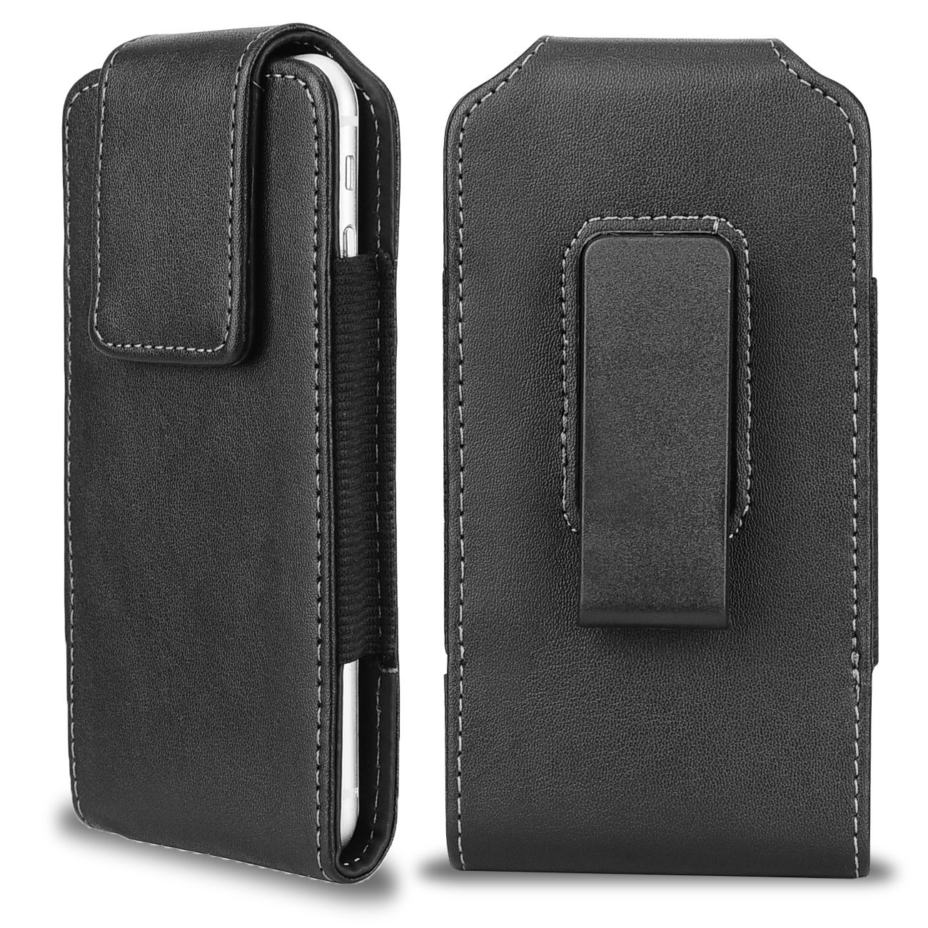 iPhone 6 Plus Vertical Leather Belt Case, Samcore® Clip Holster Pouch Carrying Sleeve (Fits iPhone 6 Plus / Galaxy Note 3 / Galaxy Note 4 / Galaxy Note 5)