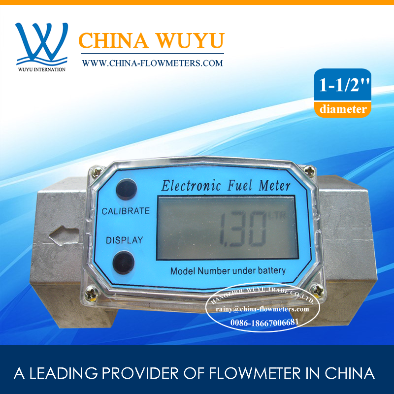 [Hot Selling] Turbine Flow <strong>Meter</strong> / Digital Diesel Flowmeter 1.5 inch