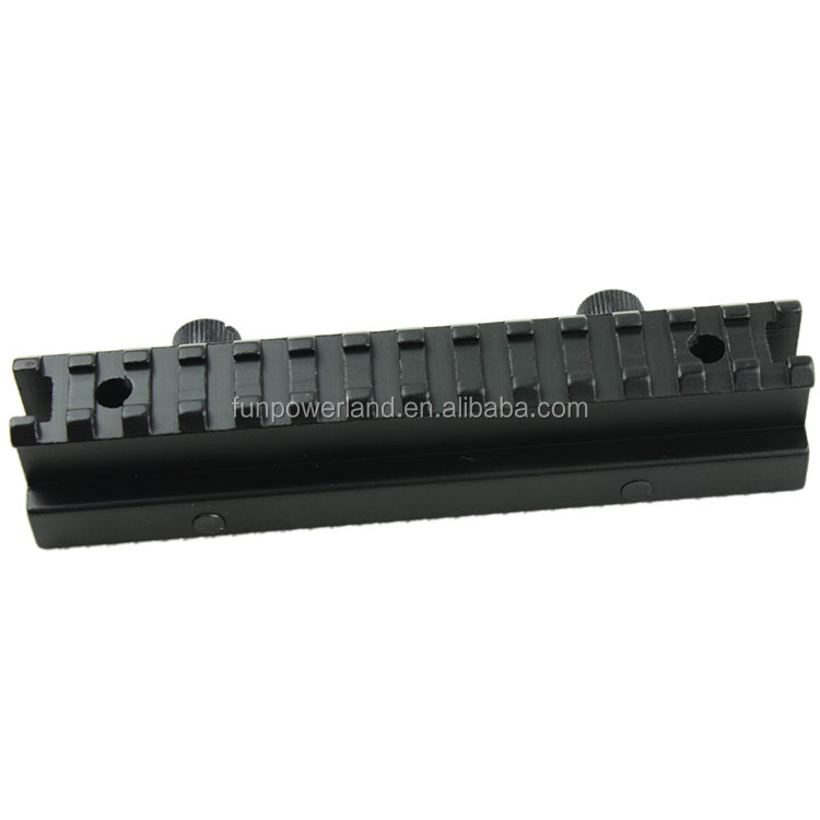 "Funpowerland Compact AR15 1"" Inch Riser Scope Mount Rifle See-Through Riser Mount Picatinny Weaver Mount"