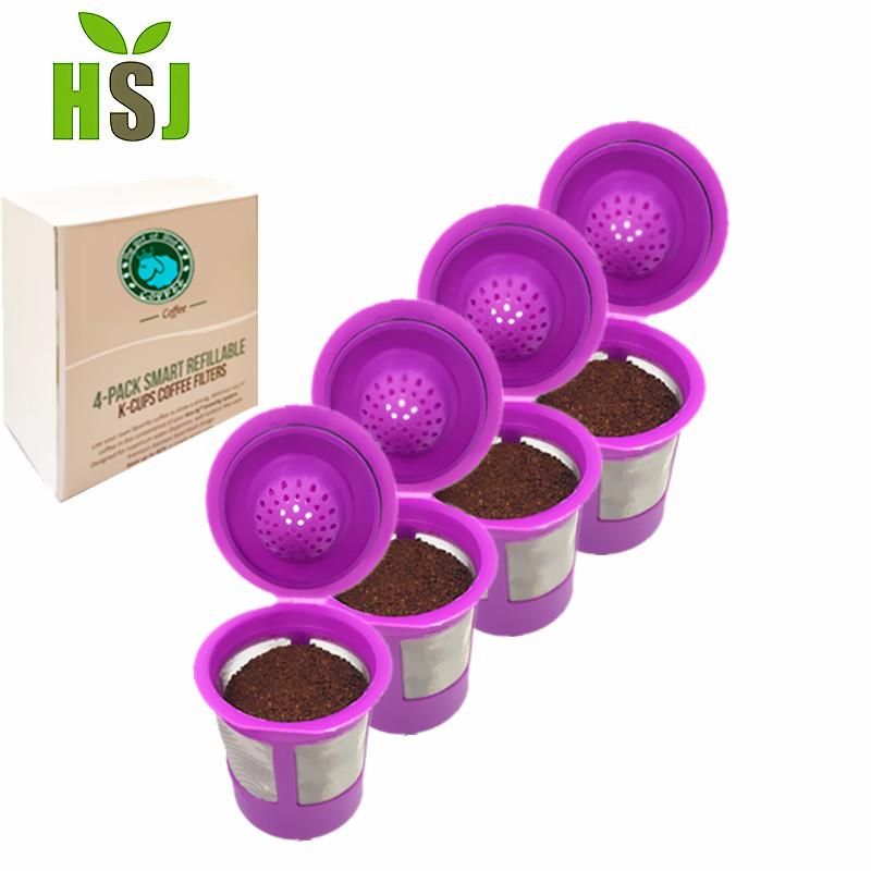 Golden mesh koffie filter herbruikbare k-cup voor keurig 2.0 brewers
