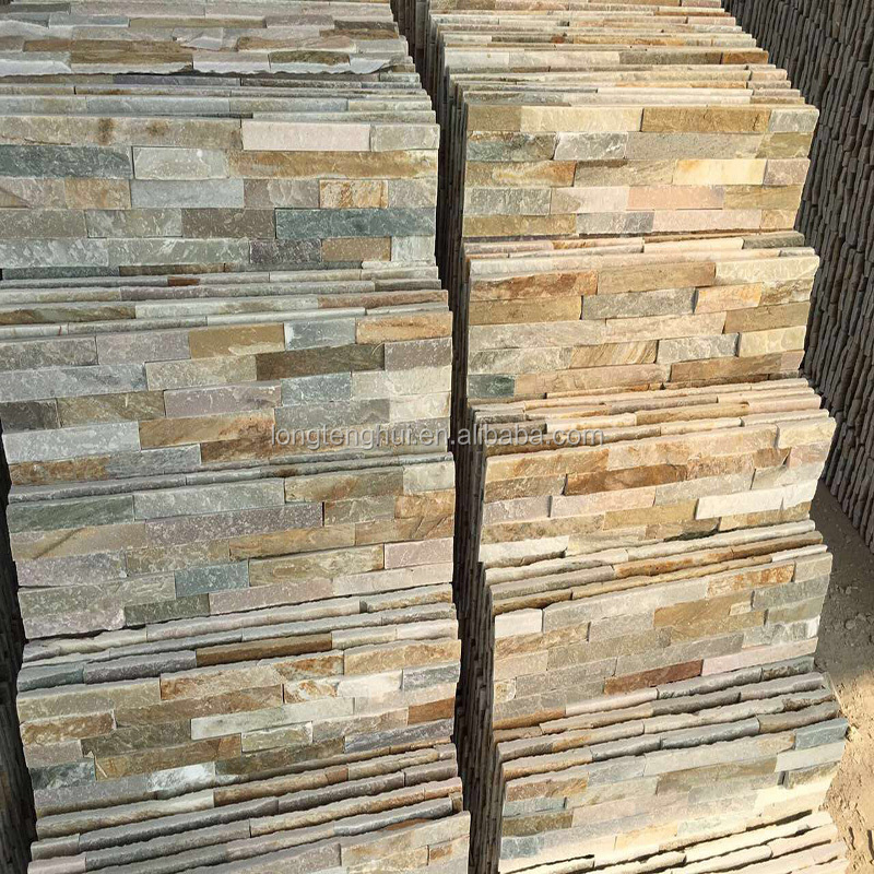 Materials for facades of houses slate decorative stone