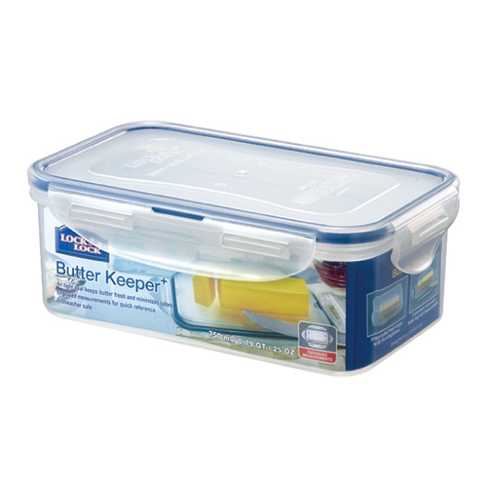 Get Quotations · LOCK U0026 LOCK Airtight Rectangular Food Storage Container  With Butter Insert, Butter Case 25