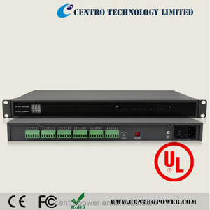 1U Variable dc power supply 20A rack mount CCTV power distribution box
