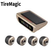 the best external solar TPMS with gold display tire pressure alarm system digital tire pressure gauge tpms
