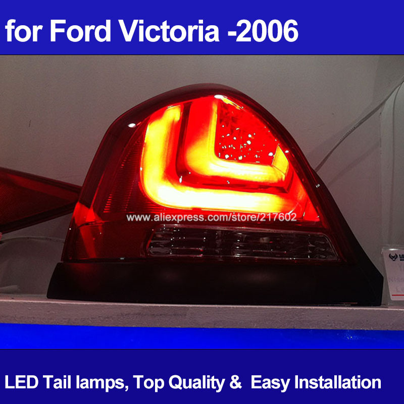 Авто из светодиодов задние фонари для форд виктория 2000 из светодиодов задний тормоз задний фонарь назад бар огни V2 тип Hot и New