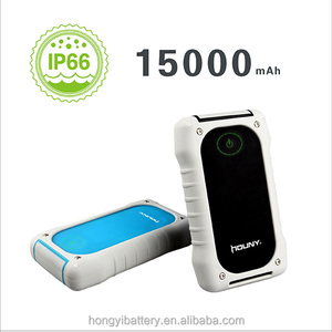 Factory IP66 Cap 15000mAh Rohs power bank battery for camping waterproof rugged power packs