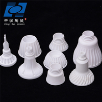 Ceramic heat lamp holder parts
