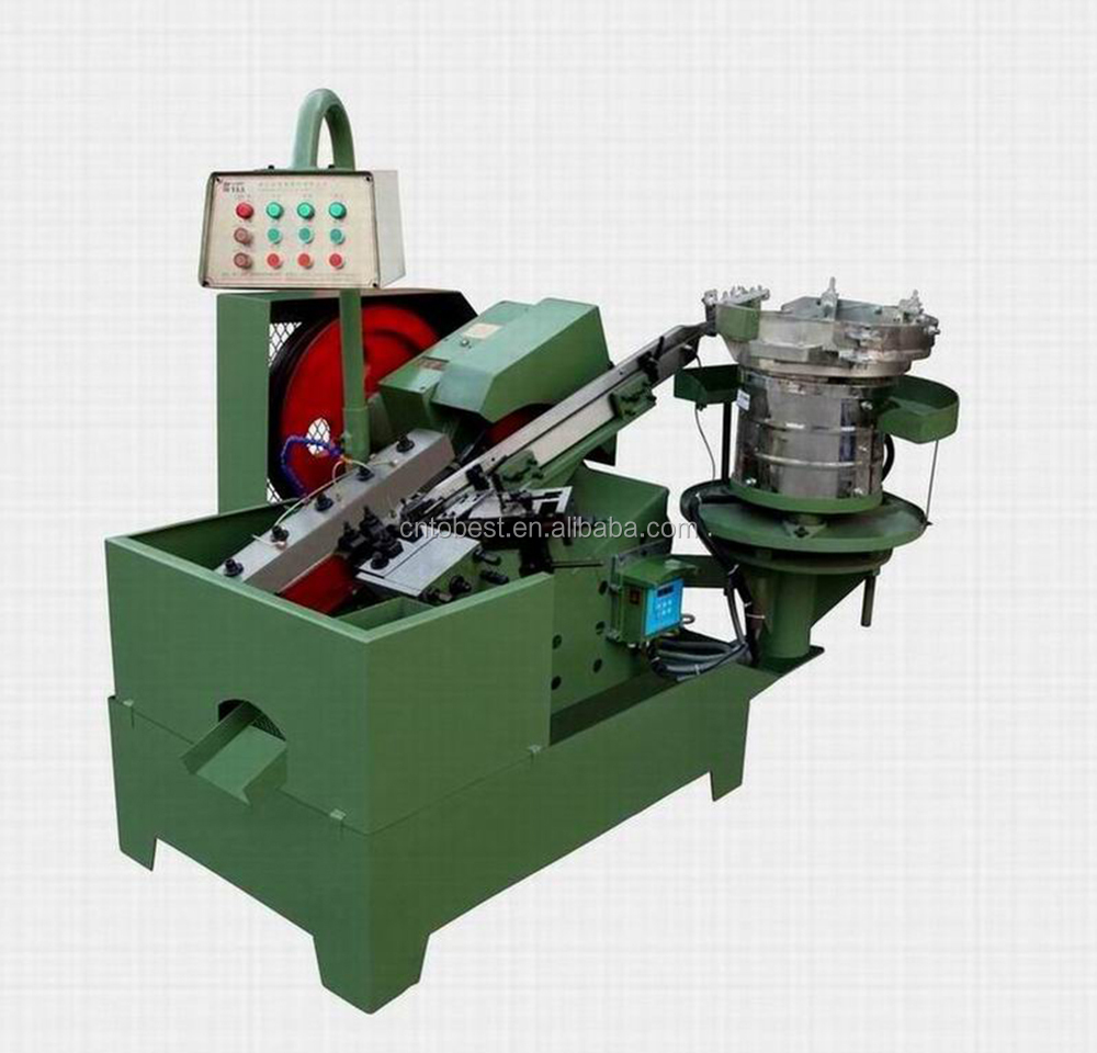 Flat die thread rolling machine screw making machine