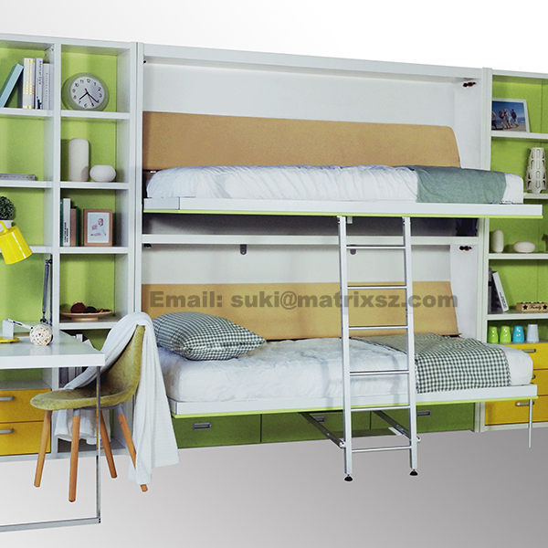 murphy bed folding wall bed wall mounted bed with bunk bed design hidden wall bed buy metal. Black Bedroom Furniture Sets. Home Design Ideas