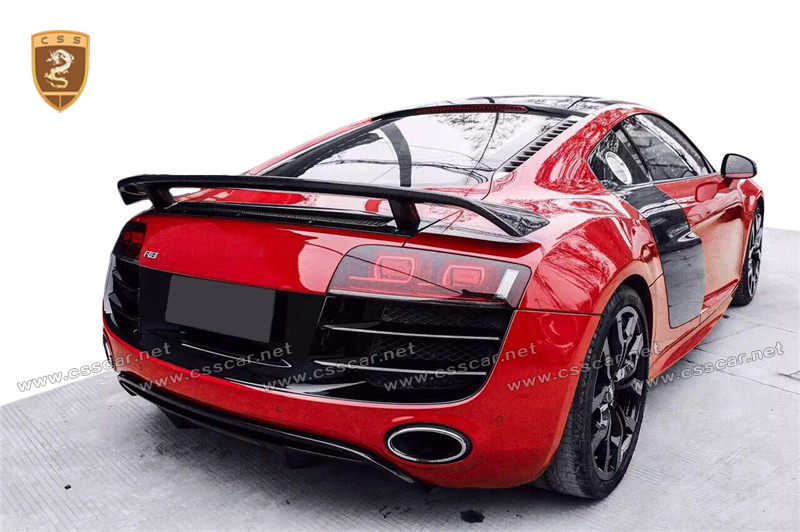 Audi Build Your Own >> Carbon Fiber Spoiler Body Kit For Au-di R8 - Buy Rear Wing
