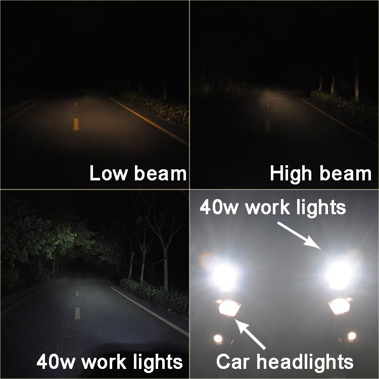 Compact design CREE LED external lights for cars 60w LED car spotlights