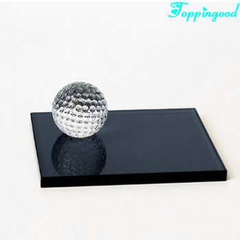 Crystal Golf Ball With Cube Base For Sports Souvenir