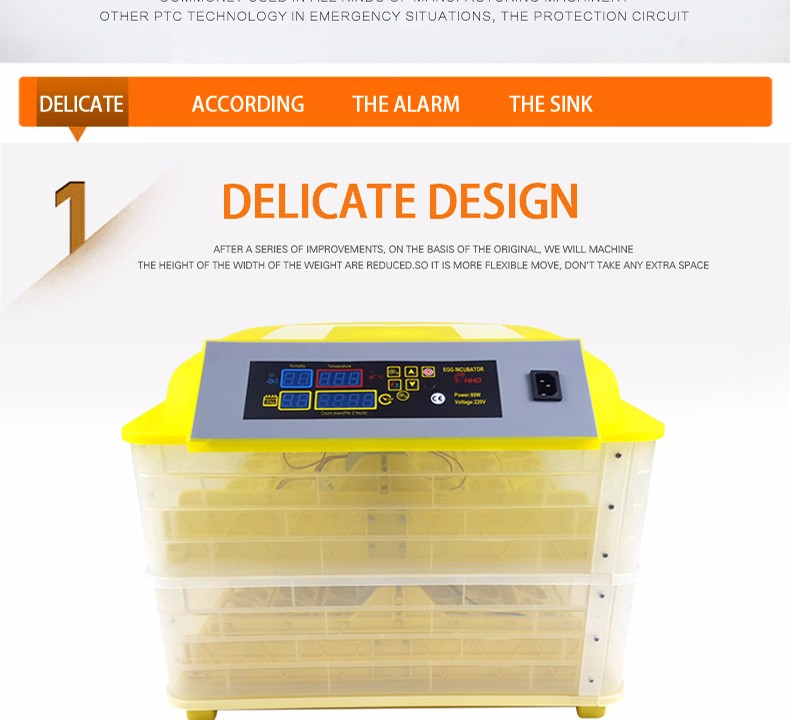 HHD full automatic cheap duck egg incubator 96 professional incubator for hatching eggs