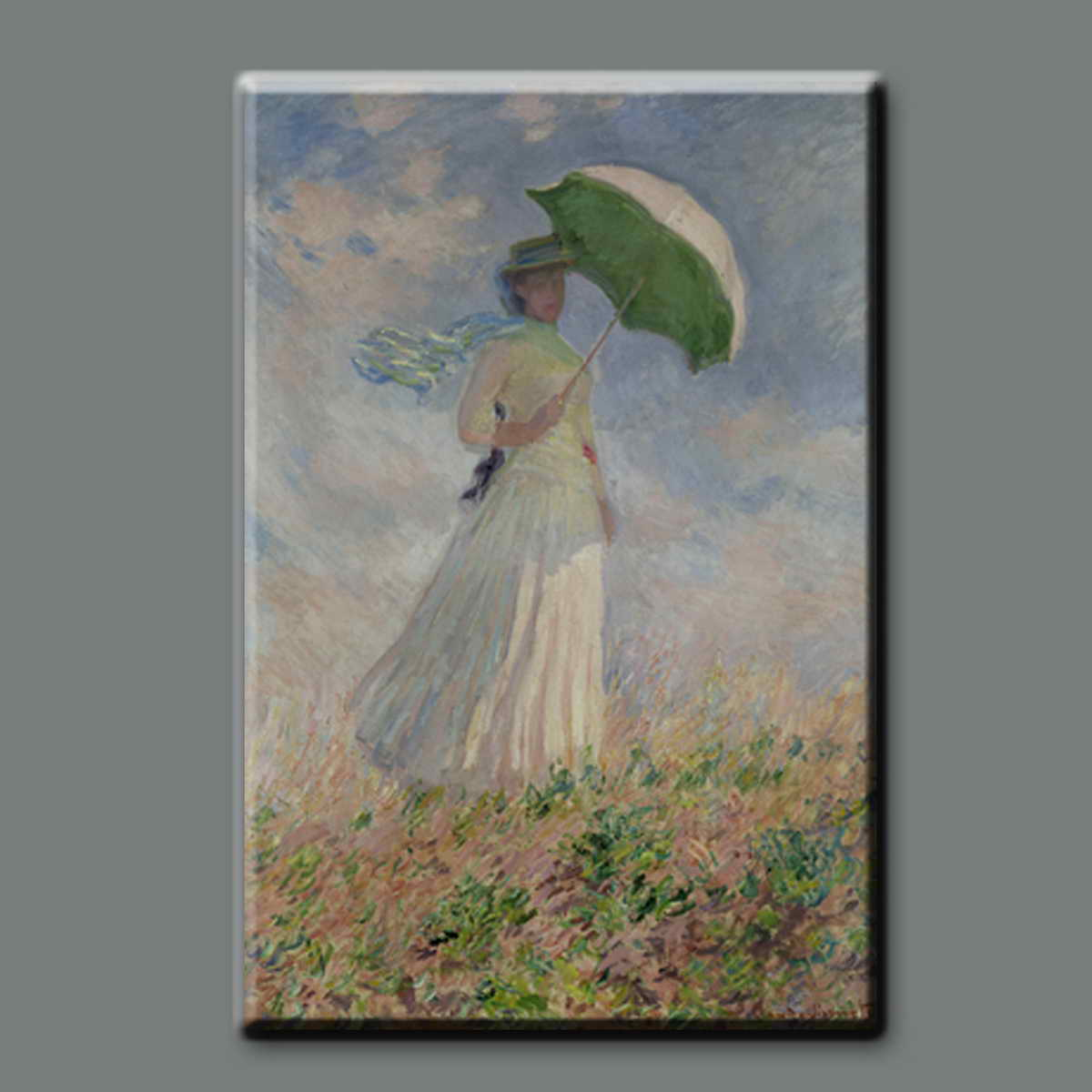 Handmade reproduction antique Claude monet impressionist women famous oil painting reproduction with frame