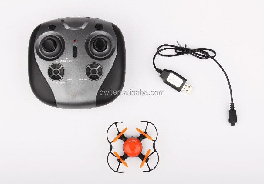 DWI Dowellin 2.4G 6 Axis Remote Control Nano Drone Wholesale Quadcopter 360 Degree Flipping