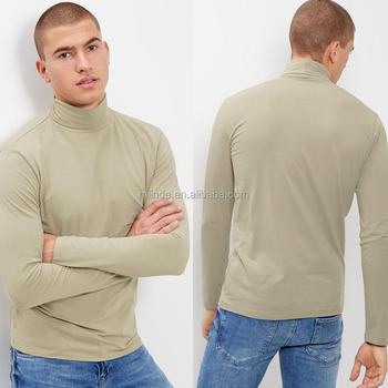 Moda Tortuga Camisetas De Poliéster Buy Mezcla Elástico Hombres Larga Alto Manga Algodón Elegante Cuello Camisa 8OkXPNn0wZ
