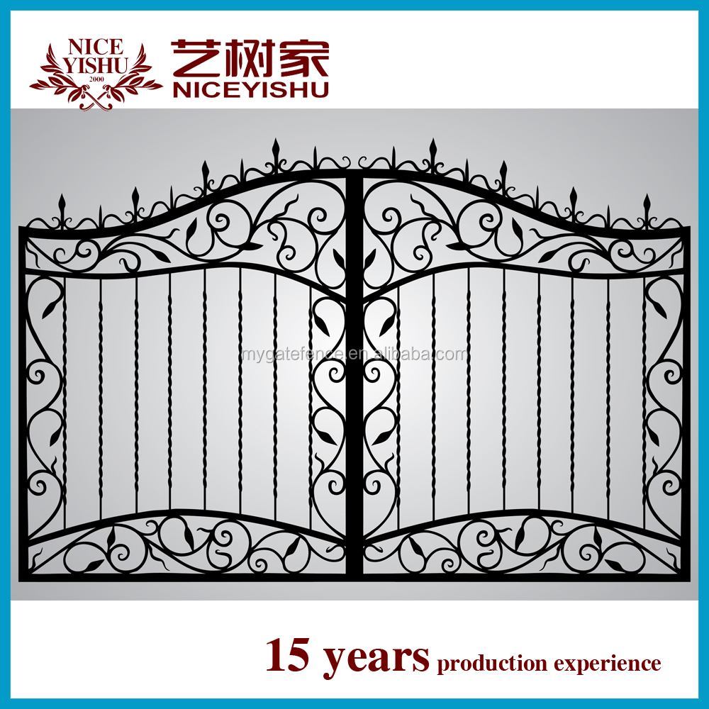 Luxury Cheap Modern Sliding Beautiful New Main Gate Pillars Design