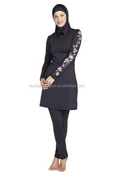 4c863994ee 2 Pcs Trendy Women Modest Swimwear Islamic Short Sleeve Tankini Swimming  Muslim Swimsuit Women bath suit