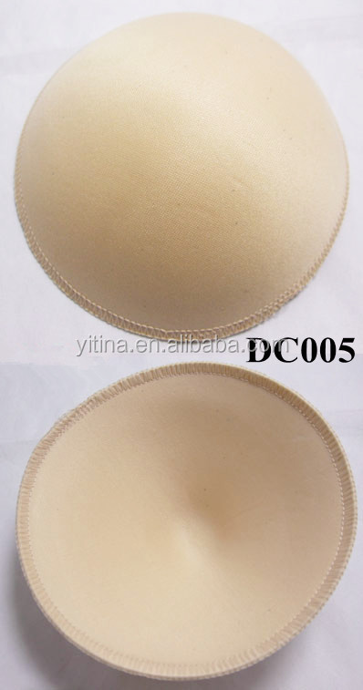 Round full cup shape removable cotton bra pads for women bra DC005