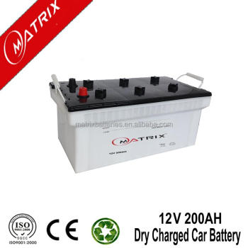 Marque Matrix Batterie Chargée À Sec 12 V 200AH Automobile Batterie D'accumulateurs au Plomb