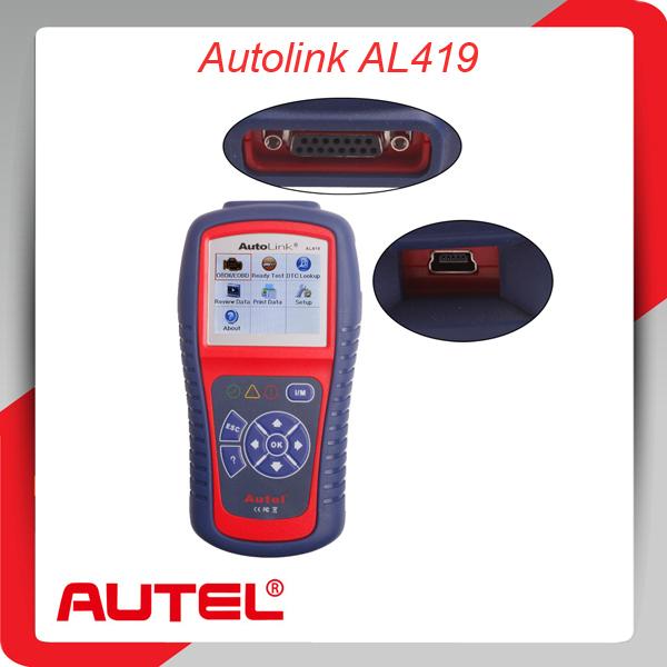 Autel автоссылка AL419 на - диагностики OBDII и может сканировать инструмент сканер авто код ошибки чтения автомобиля диагностический аксессуары