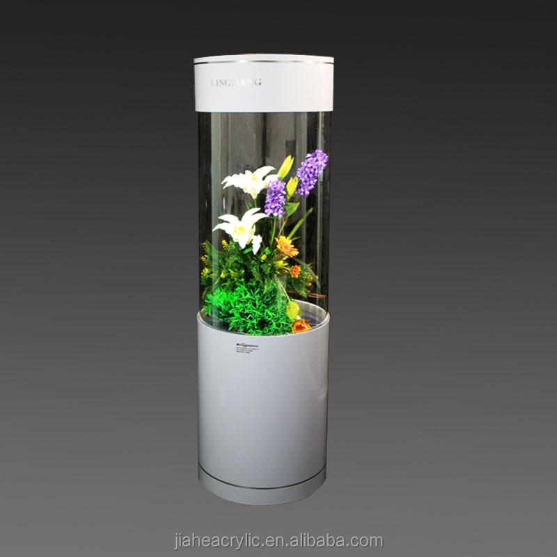 Acryl zylinder aquarien columniform aquarium acryl for Cylindrical fish tank