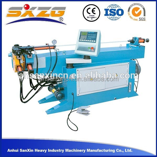 DW130NC 6inch sing head hydraulic manual stainless steel pipe bending machine, 8mm 9mm NC pipe thick pipe bending machine cost