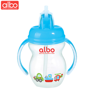albo brand 210ml high quality baby training cup cute transparent travel water bottle