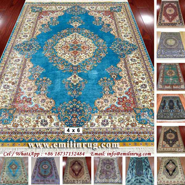 Hand Knotted Kashmir Turkish Chinese Hereke Design Handmade Oriental Silk Carpet Persian Rugs Carpets Living Room China Supplier