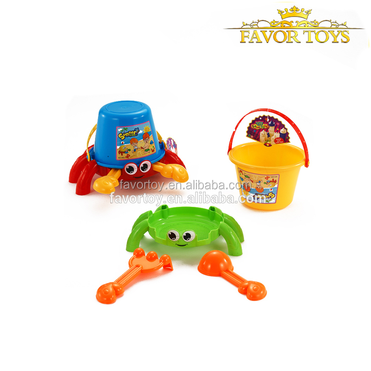 New product custom design 4pcs cute cartoon kids crab plastic beach toys set