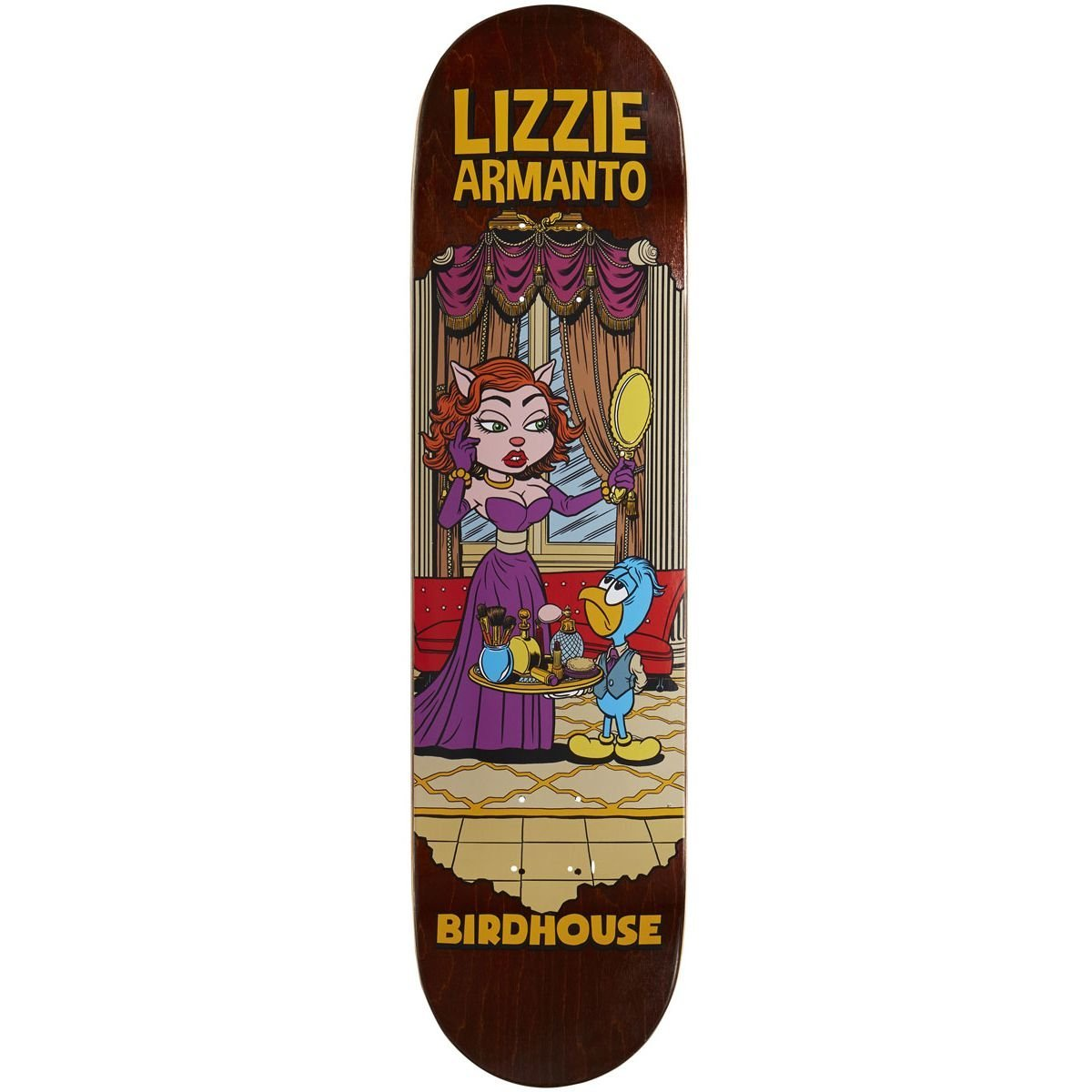 "Birdhouse Armanto Vices Skateboard Deck - 8.00"" - Brown Stain"