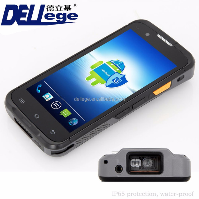 Android Barcode Reader Data Collector Handheld Computer With Display Large Touch Screen