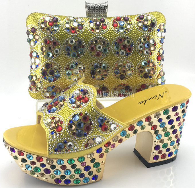 Italian Slippers Pink Party Set ME7709 Matching Fashion And Wedding Rhinestones For Bags 2018 Shoes Shoes With Bags African wIAqn