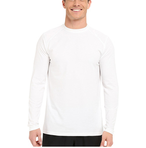 Promotional long sleeve men cheap plain white wholesale blank t-shirt