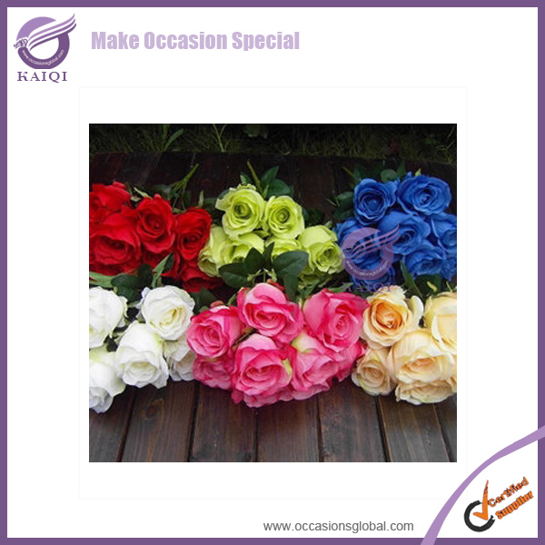 k4905-4 wedding rose preserved silicone flowers artificial rose flower