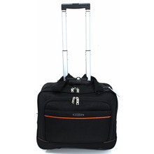 "16"" Wheeled Computer bag Roller Cabin Business Briefcase Laptop Trolley Bag"