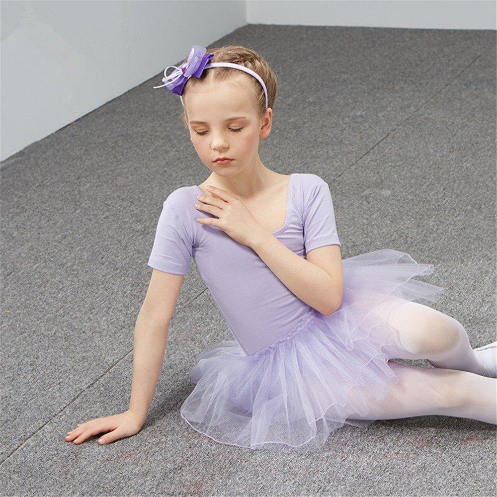 dance clothing Children Dance Costumes Children's dance costume, dancing performance, training dress for girls and ballet dresses for children,Violet,150cm