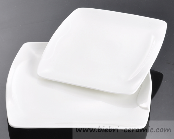 """6"""" Good Quality Square Porcelain Plates White Color For Hotel ..."""