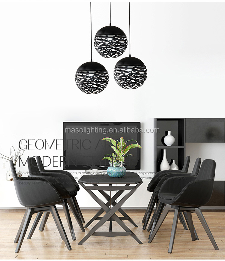 Modern Unique Creative Ball Shape Pendant Lamp Indoor Dinning room Energy saving Metal Pendant Lamp