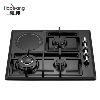 Built In 4 Burners Gas Cooker With Induction