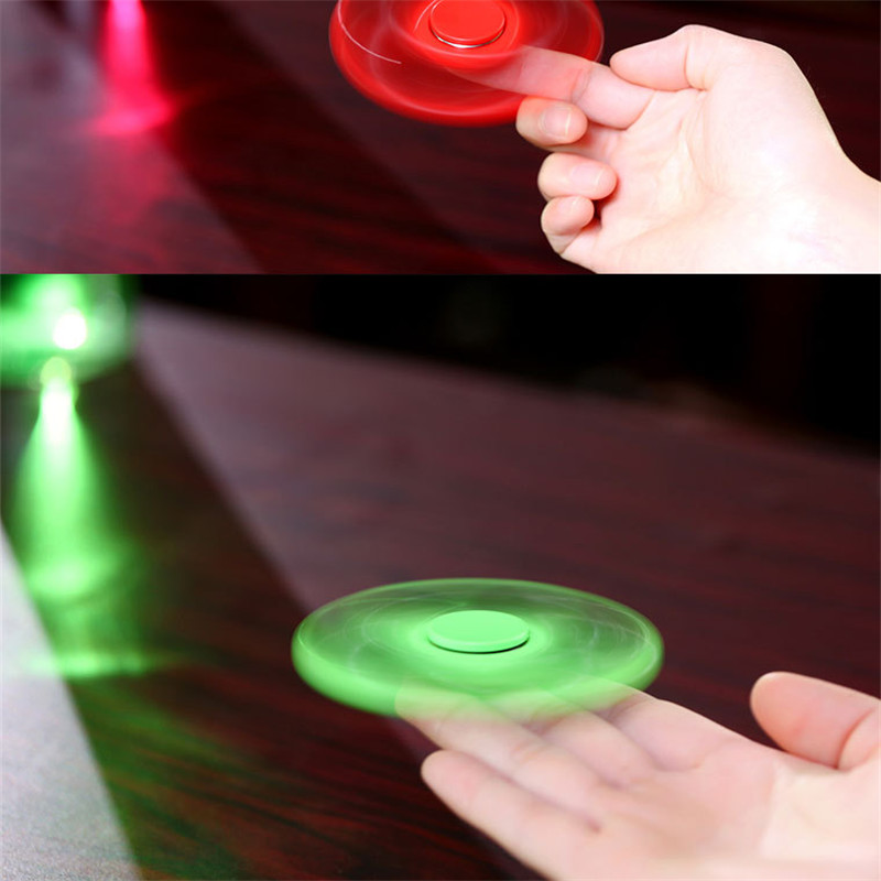 2017 Trending Products luminous Hand finger Fidget Spinner toys with light