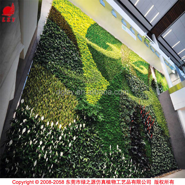 OEM vertical garden with artificial plants vertical wall garden